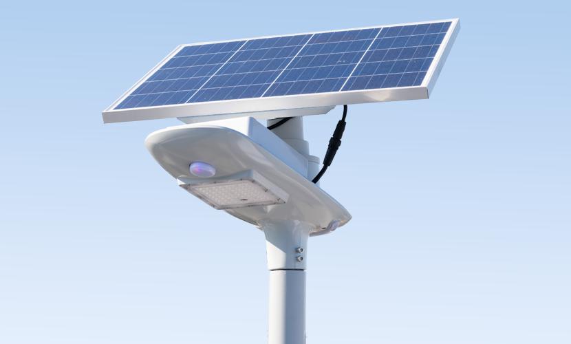 太陽光だから災害時にも強いソーラー防犯灯・ソーラー非常灯のセーリング5010の写真