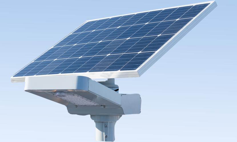 太陽光だから災害時にも強いソーラー防犯灯・ソーラー非常灯のビッグバンの全体写真