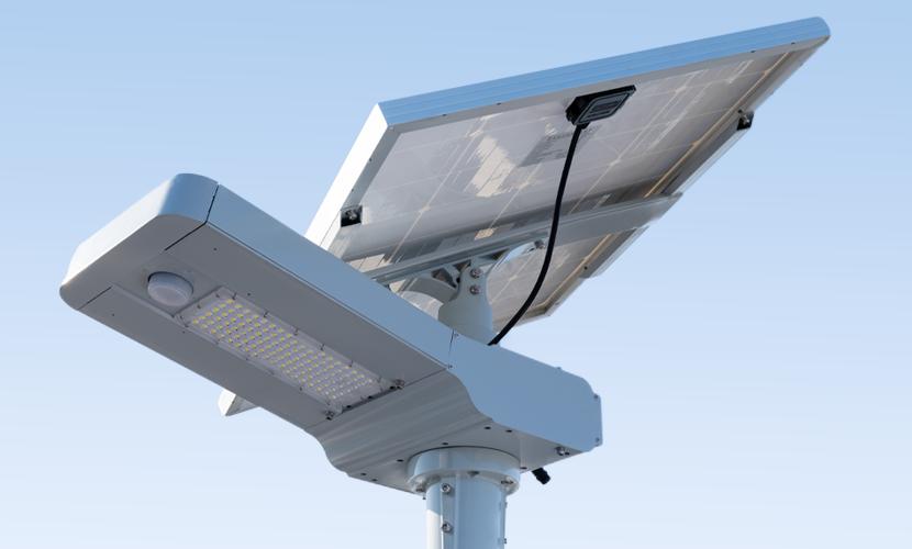 太陽光だから災害時にも強いソーラー防犯灯・ソーラー非常灯のビッグバンのズーム写真