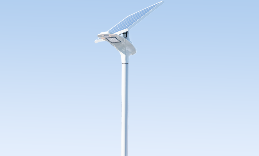 太陽光だから災害時にも強いソーラー防犯灯・ソーラー非常灯のホタル8020の写真