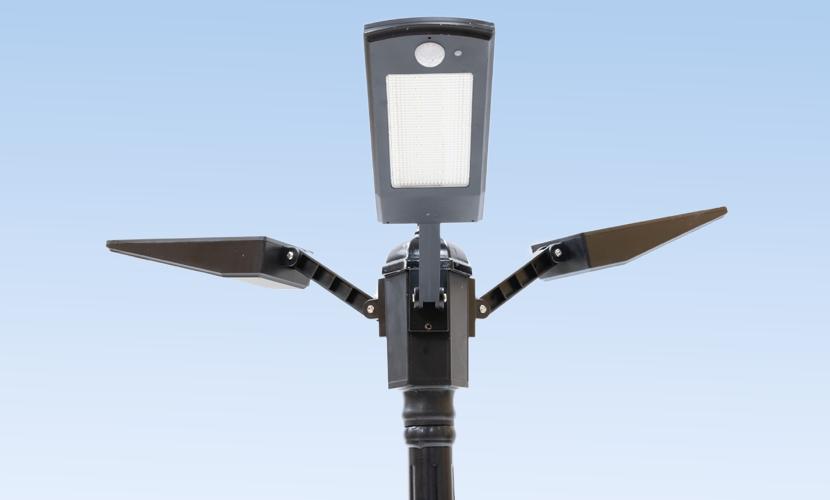 太陽光だから災害時にも強いソーラー防犯灯・ソーラー非常灯のL2tの写真