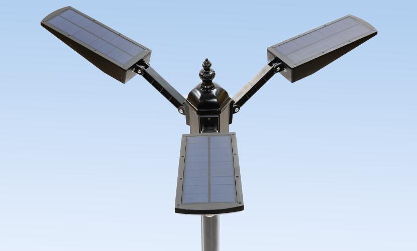 太陽光だから災害時にも強いソーラー防犯灯・ソーラー非常灯のL2tの上からの写真
