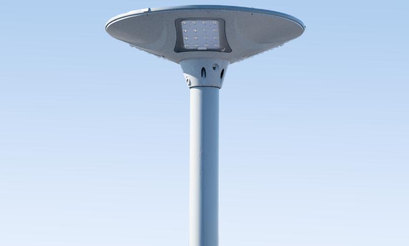 太陽光だから災害時にも強いソーラー防犯灯・ソーラー非常灯のSC1の全体写真