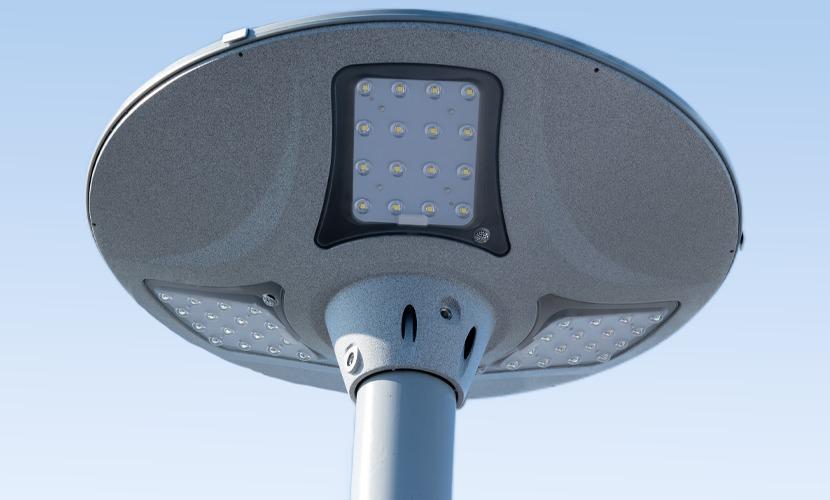 太陽光だから災害時にも強いソーラー防犯灯・ソーラー非常灯のSC1のズーム写真