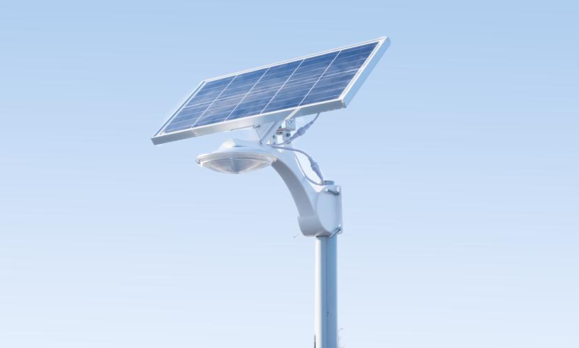 太陽光だから災害時にも強いソーラー防犯灯・ソーラー非常灯のSMLの横向き写真