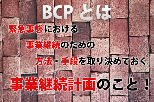 BCP簡易説明